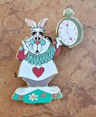 Disneyland Paris Alice in Wonderland White Rabbit Watch Disney Pin Trading