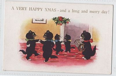 INTER ART CAT p/c - A VERY HAPPY CHRISTMAS - DANCING CATS & SQUEEZEBOX