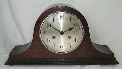 Mantel Clock For Restoration Or Parts  Nelson Hat Wooden Case