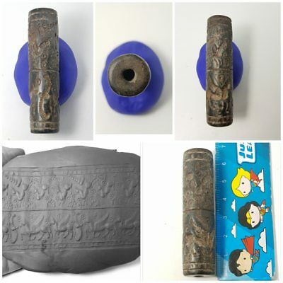 Bactrian very nince old stone cylinderseal bead
