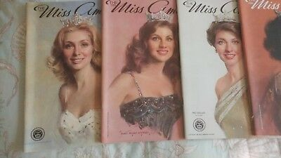 Miss America Pageant Program Collection 1979 To 1986 Inclusive