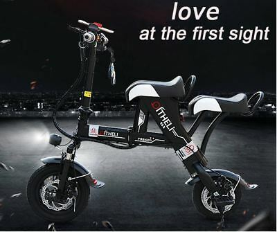 Qili 350w/36v Two Seater City Coco Foldable Electric Motorcycle Ebike Scooter