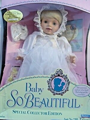 "NIB Baby So Beautiful ""Christening Day Blessing"" Playmate Doll"