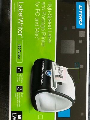 Dymo LabelWriter 450 Turbo Label Thermal Printer - Black