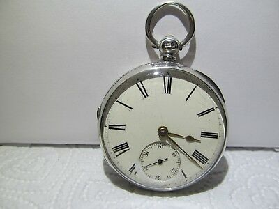 1873 fusee pocket watch solid silver good condition and working