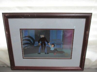 Original Hand Painted Production Cartoon Cel Nemo Framed 20.5 X 15.5 Excellent C