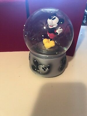 Disney Mickey Mouse Club Song Wind Up Musical Water Ball Snow Globe New In Box