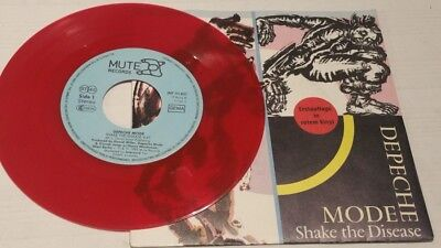 "Single aus rotem Vinyl Depeche Mode ""Shake the Disease"" und ""Flexible"" mit Hülle"