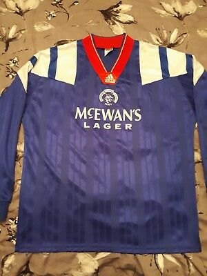 Ally McCoist match / player issue Rangers shirt from 1992 - 94 not signed