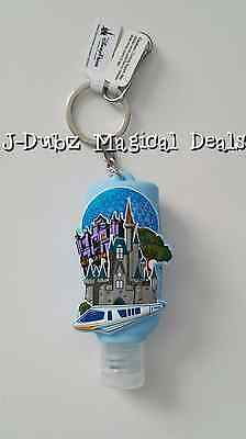 NEW FACTORY SEALED Disney Parks Exclusive 4 Parks Hand Sanitizer Keychain
