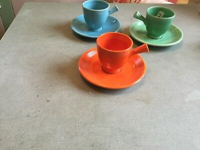 vintage fiesta red after dinner/demi cup and saucer