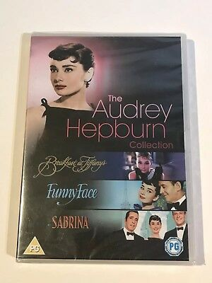 The Audrey Hepburn Collection Breakfast At Tiffanys Funny Face Sabrina Dvd New