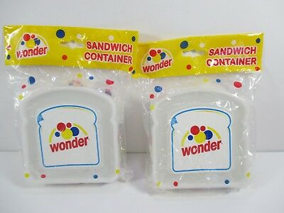 Wonder Bread Sandwich Storage Containers Advertising New Old Stock #EL1