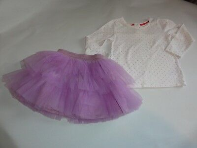 Little Girls Age 2-3 Years Lilac Tutu Skirt And Pink White Spotty Top