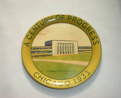 Vintage 1933 Century of Progress Chicago Worlds Fair Tip Tray/Admin/Airship