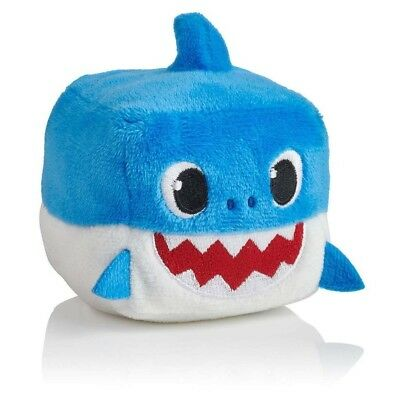 Pinkfong DADDY SHARK Sound Plush Doll CUBE toy - ENGLISH SONG *RARE* From BABY