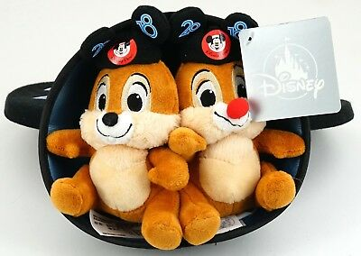 """New Disney Parks 2018 Mickey Ears Hat With 6"""" Chip And Dale Plush"""