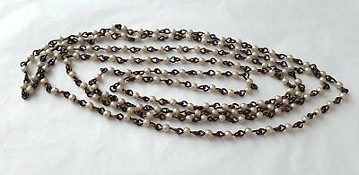 Costume jewellery 150cm small faux pearl bead necklace A376