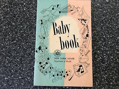 Vintage 1940's New York State Dept of Health Baby Book Thomas Dewey was Governor