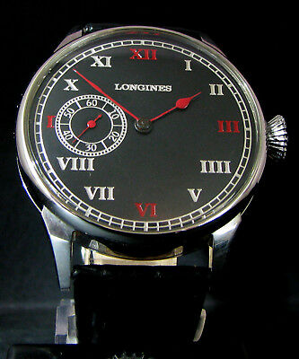 LONGINES ANTIQUE 1918 Art Deco Large Wristwatch METAL DIAL