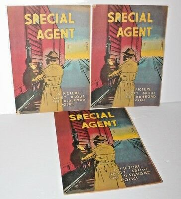 Lot of 3 Special Agent Comics by Association of American Railroads