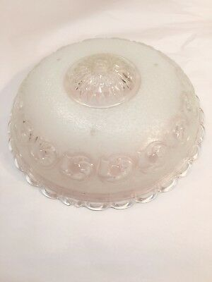 Vintage Clear/frosted Glass Chandelier Light Shade Ceiling Light Shade 14""
