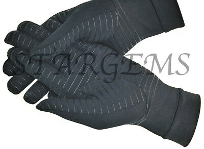 Arthritis Copper Compression Gloves Pain Relief Healing Aid Hand Support Grip