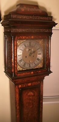 "Antique Walnut Floral Marquetry "" London ""  Longcase / Grandfather Clock"