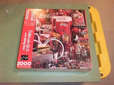 Coca Cola  2000 Piece Puzzle  Coke Adds Life To Everything Nice