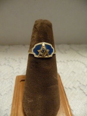 Vintage 14K Yellow Gold Masonic Ring Size 5.75 -  2.4 Grams
