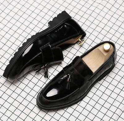 47d6f5b6cdb Men s business Brogue patent leather slip on oxford Dress formal loafers  shoes