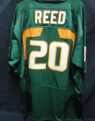 2519d3597 Nike University Of Miami Hurricanes Ed Reed  20 Acc Jersey Size 54