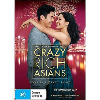 Crazy Rich Asians Dvd, New & Sealed, 2018 Release, Free Post