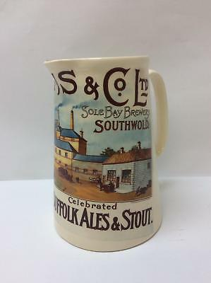 Adnam's and Co Ltd Sole Bay Brewery Southwold Ales and Stout Ceramic Pitcher