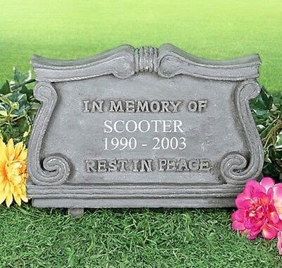 PERSONALIZED Dog Cat Pet Memorial Head Stone Cemetery Grave Marker Tomb Stone