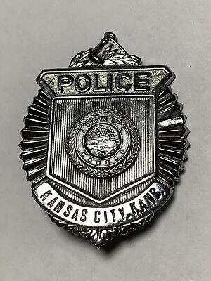 Original Antique Obsolete Kansas City, Kansas Police Badge