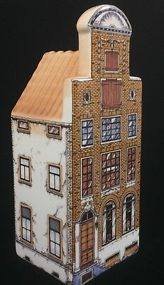Delft Polychrome Hand Painted Canal House 2705-2 Hotel Holland Dutch Collectible