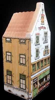 Delft Polychrome Hand Painted Canal House 2705-9 Bakery Holland Dutch