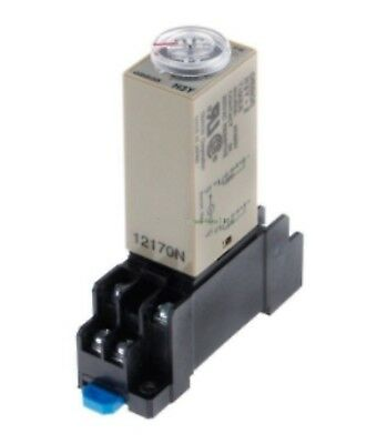 0-60 Min 12VDC Supply Timer Delay Relay H3Y-2 With Base for Dim Rail 12 Vdc 5A