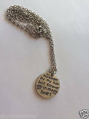Pet Remembrance Necklace Pendant Cat Dog Paw Jewelry Forever In My Heart