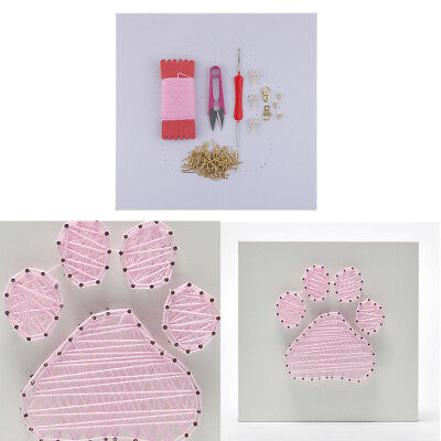 Dog Footprint String Art Kit with Basic Tools for DIY Kids Beginners Crafts