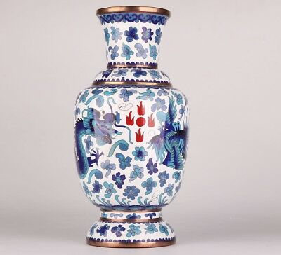 Antique Cloisonne Enamel Vases China Handmade Only One Home Decoration Collec