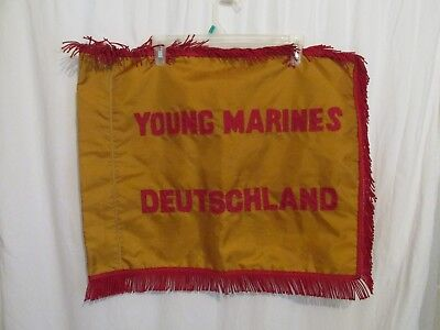 """Military Young Marines Deutschland Germany Banner-Flag Sewn on Letters 24"""" x 21"""""""