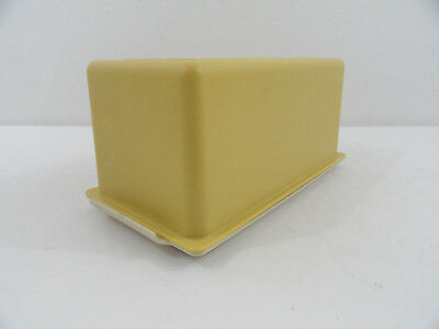 Tupperware Butter Keeper One Pound Harvest Gold 638 Almond Tray Base 639