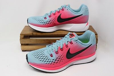8bb2e7a4178d9 Nike Women s Air Zoom Pegasus 34 Running Shoes Teal Pink White 880560-406  NEW