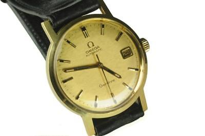 Mens Omega Geneve 18K Gold Case Cal 565 Automatic Watch  New Old Stock (NOS)