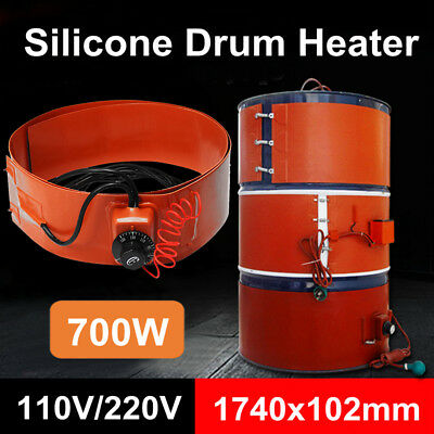 110V 55 Gallon Silicon Band Oil Heating Drum Heater for Biodiesel Metal Barrel