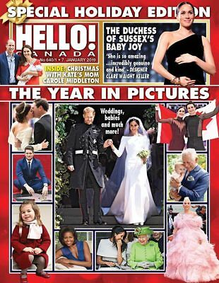 Hello Canada Magazine Holiday Edition Year in Pictures NEW  #640/41 Jan. 2019