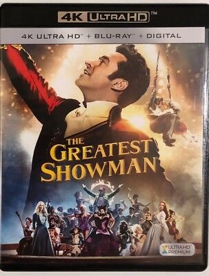 The Greatest Showman 4K Ultra Hd Blu Ray 2 Disc Set Free World Wide Shipping