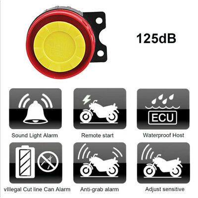 Universal Motorcycle Moto Bike Alarm System Scooter Anti-theft Security S1K5
